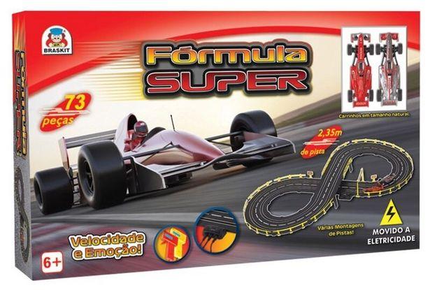 Oferta de Pista elétrica com 2carrinhos Braskit Fórmula Super 5805 - Colorido por R$379,91