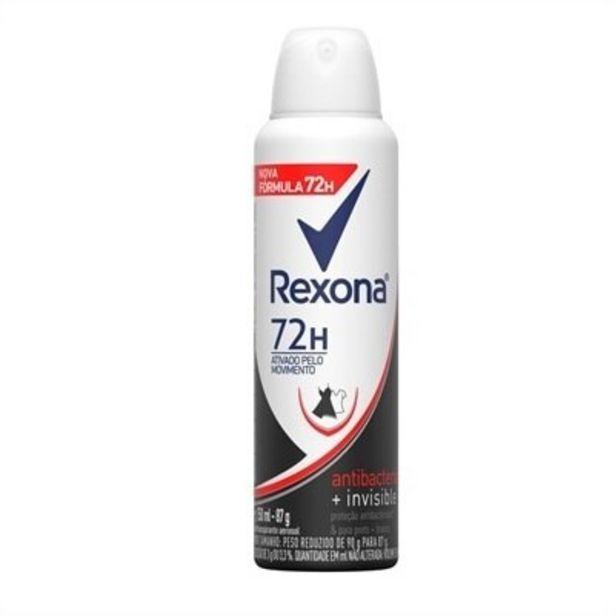 Oferta de Desodorante Rexona Aerosol Women Antibacterial Invisible 150ml por R$15,11