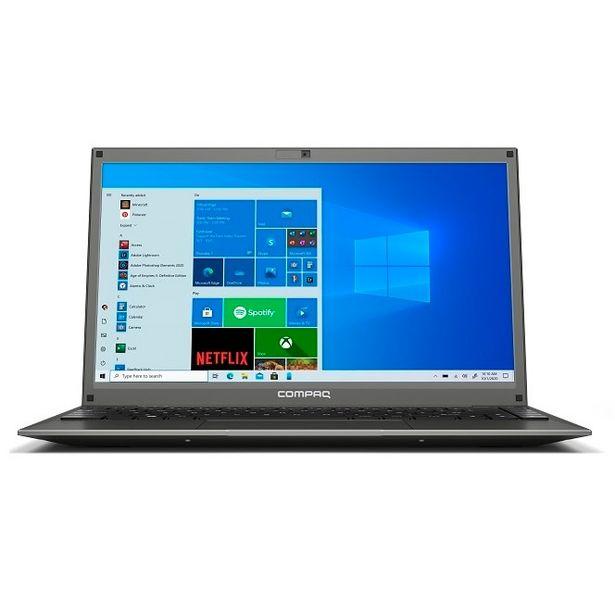 """Oferta de Notebook Compaq Presario 420 Intel Pent 4GB RAM, 120GB SSD Tela 14,1""""-Cinza por R$2184,91"""