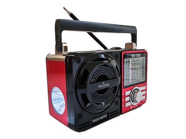 Oferta de Rádio Portátil Intense 9 Faixas USB IRA-1088 - Vermelho por R$174,71