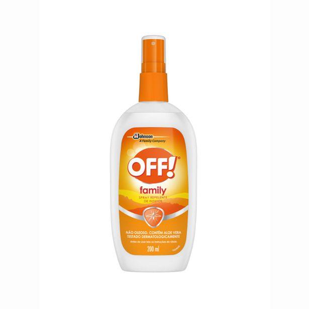 Oferta de Repelente Off Family Spray 200ml por R$34,77