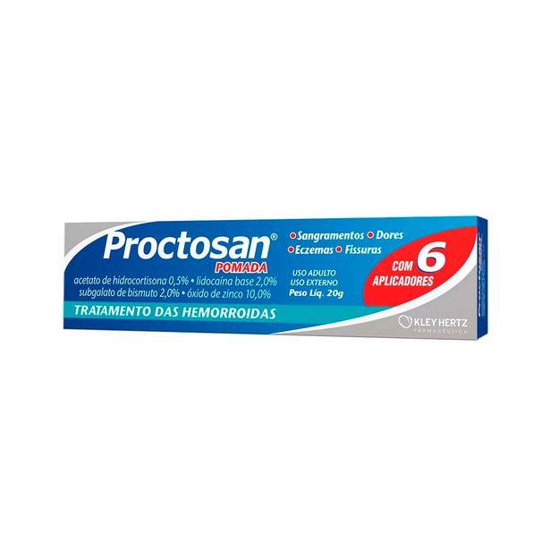 Oferta de Proctosan Pomada com 20g + 6 Aplicadores por R$33,01