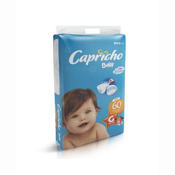 Oferta de Fraldas Infantil Descartáveis Capricho Baby Hiper Tamanho G com 60 Unidades por R$39,99