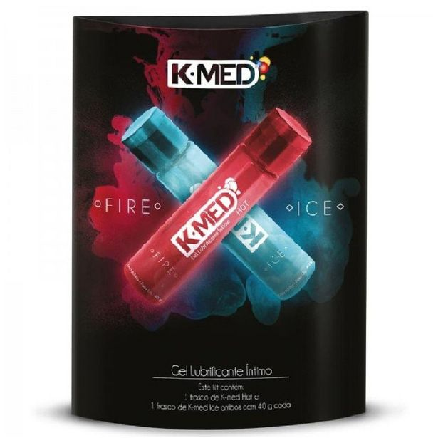 Oferta de Lubrificante Intimo K-Med Gel Fire E Ice 2x40g por R$16,41