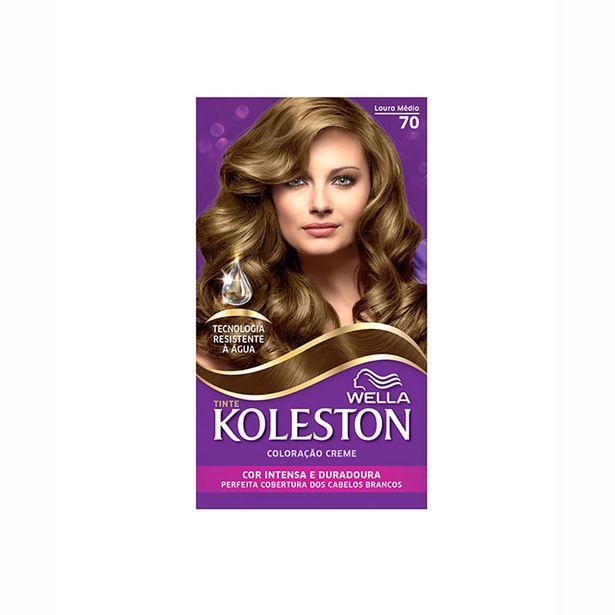 Oferta de Tintura Koleston Kit 70 Louro Médio por R$22,35
