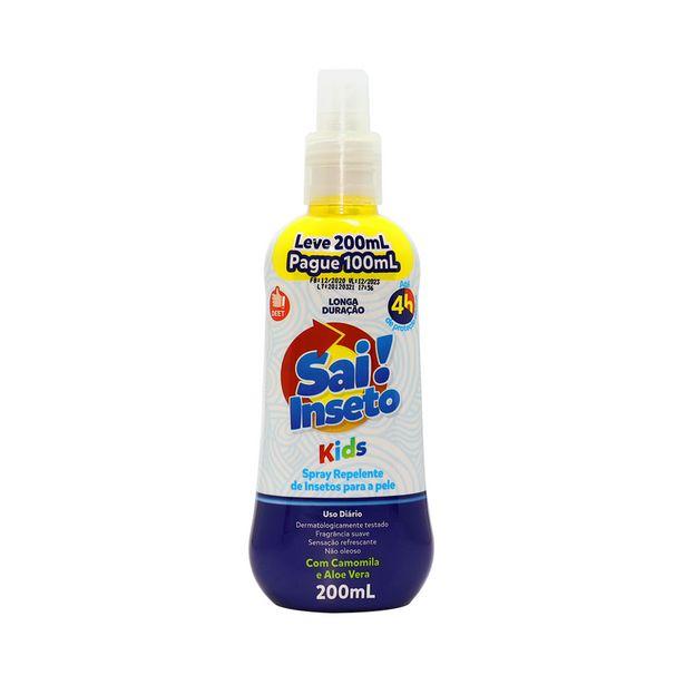 Oferta de Repelente de Insetos Sai! Inseto Spray Kids Leve 200ml; Pague 100ml por R$14,56