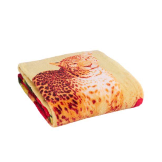 Oferta de Cobertor Manta Casal Microfibra Jaguar Flowers Vestcasa... por R$29