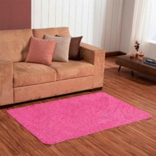 Oferta de Tapete Multiuso Canelado 1,00×1,50m Pink Vestcasa... por R$42,7