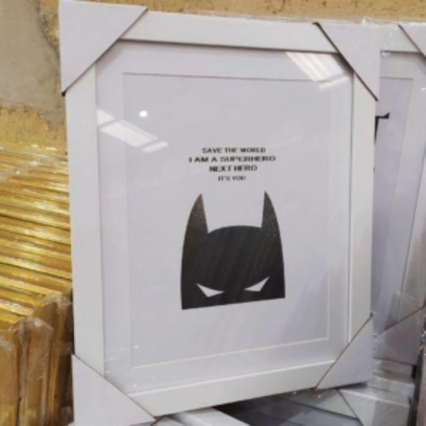 Oferta de Quadro Decorativo 30x28cm Batman Vestcasa... por R$37,91