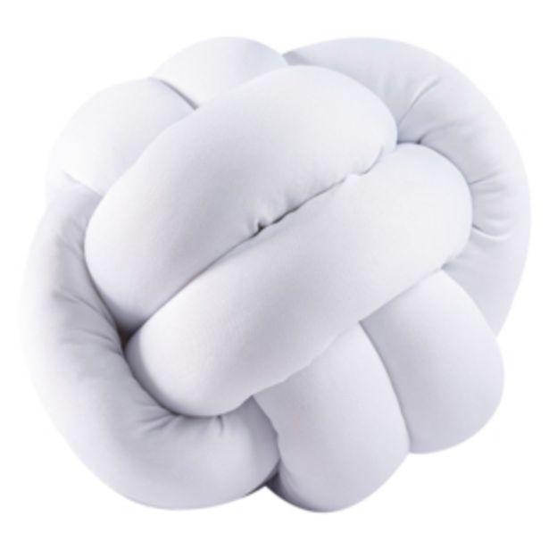 Oferta de Almofada 2 Nós 30x30cm White Vestcasa... por R$39,27