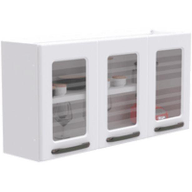 Oferta de Armário Aéreo de Cozinha, 3 Portas, 1 Prateleira - Titanium por R$299
