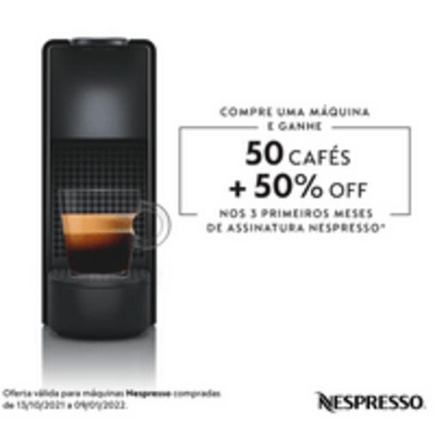 Oferta de Cafeteira Nespresso Essenza Mini, 1260W, 19 Bar, 600ml, Preto - C30 por R$398,9
