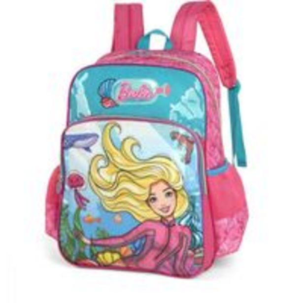 Oferta de Mochila Escolar Barbie Gd 2bolsos Azul por R$208,94