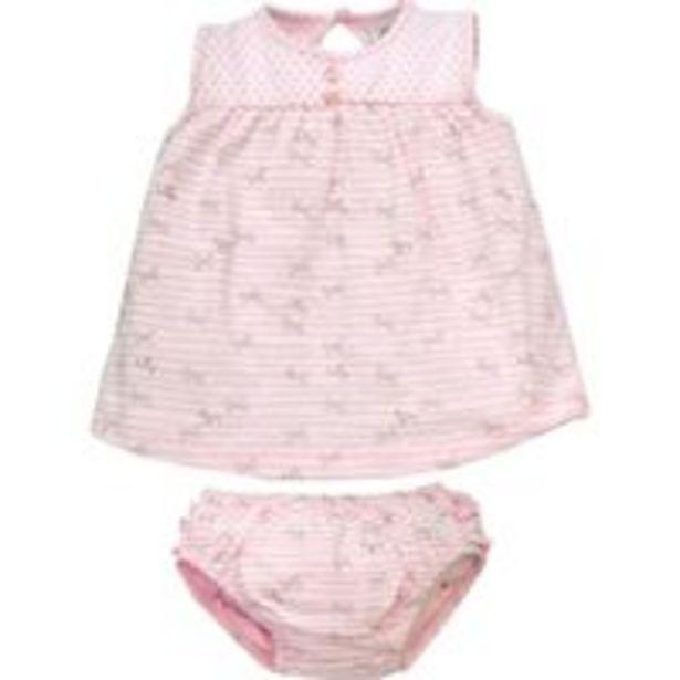 Oferta de Vestido Bebê com Calçinha Tilly Baby - Em Meia Malha 100% Algodão - Rosa Bebê por R$71,01