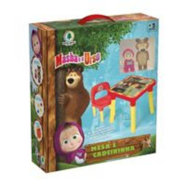 Oferta de Mesa Infantil Com Cadeira Masha E O Urso - Monte Líbano por R$219,9
