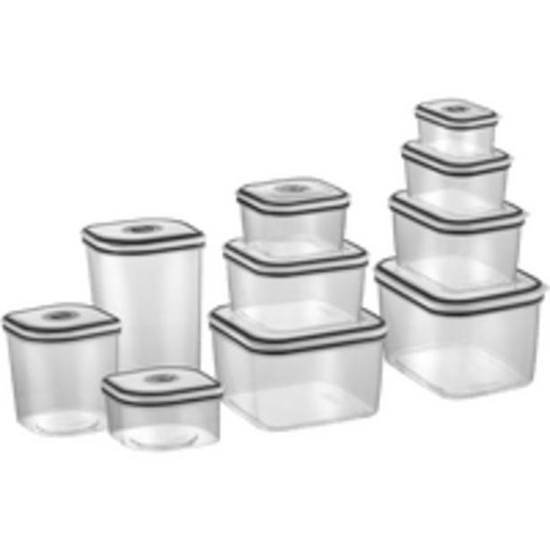 Oferta de Jogo de Potes Herméticos da Electrolux, 10 Peças, Com Tampa - 80000565 por R$99