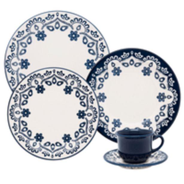 Oferta de Aparelho de Jantar e Chá Oxford Energy, 30 Peças, Cerâmica - J164-6796 por R$319