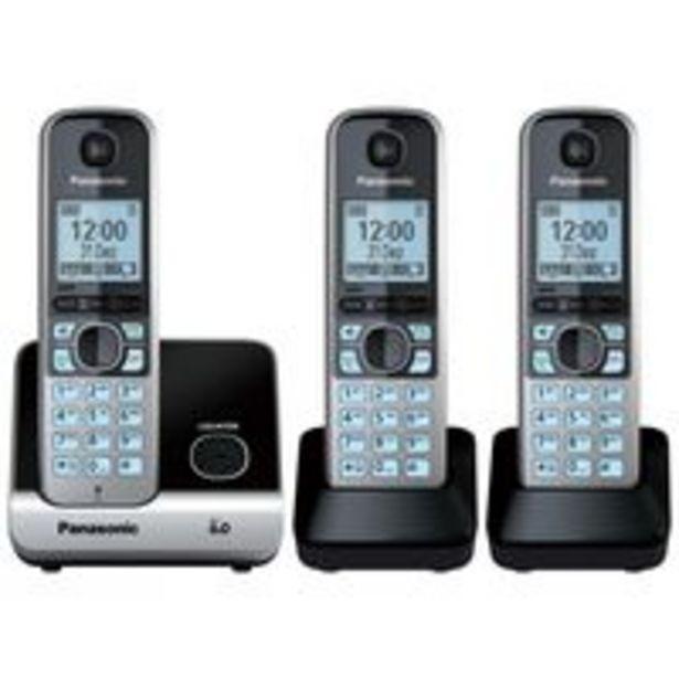 Oferta de Telefone Sem Fio Panasonic KX-TG6713LBB 3 Ramais por R$999,99