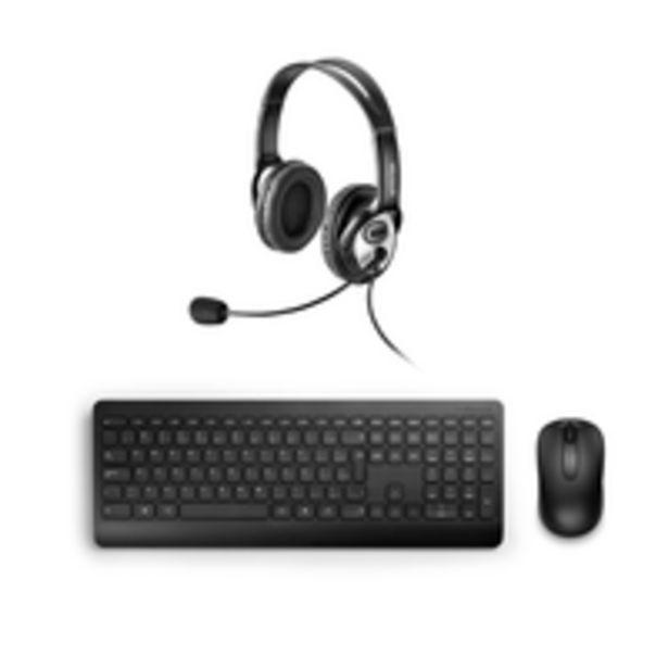 Oferta de Combo Office - Fone Com Microfone Usb Preto e  Teclado e Mouse Sem Fio Desktop 900 Usb Preto Microsoft - JUG00013K por R$463,99