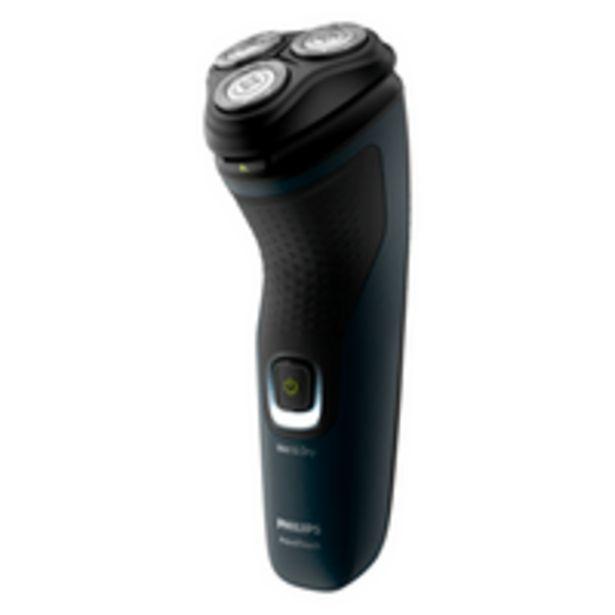 Oferta de Barbeador Elétrico Philips Shave AquaTouch, ComfortCut, Seco e Molhado - S1121/41 por R$169,9