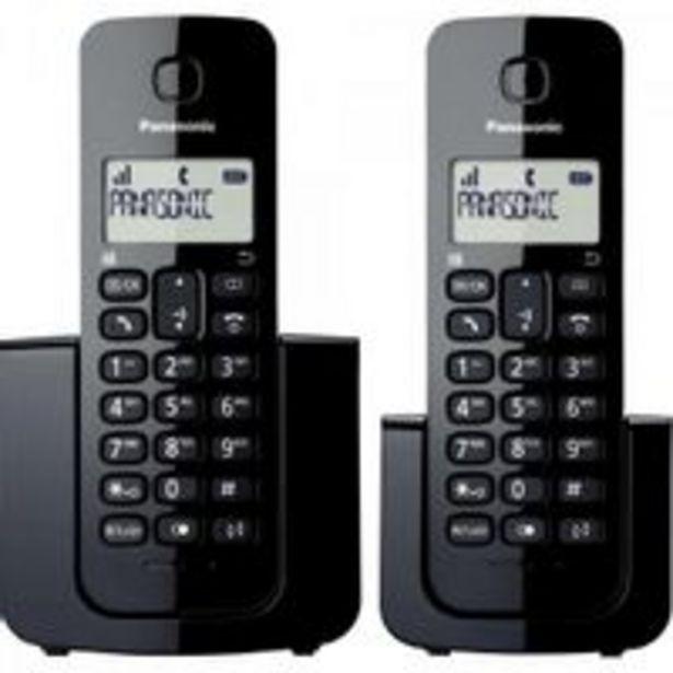 Oferta de Telefone sem Fio com ID Base + Ramal KX-TGB112LBB Preto Panasonic por R$272,02