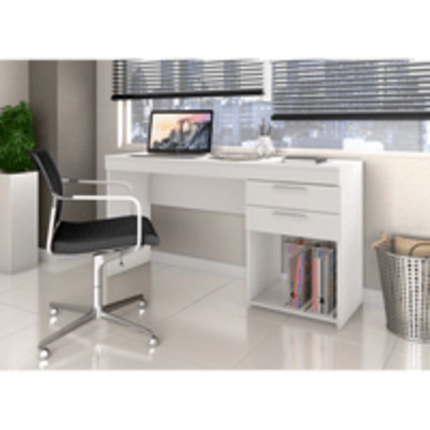Oferta de Mesa para Escritório com Nicho, 2 Gavetas, MDP - Office por R$229,9