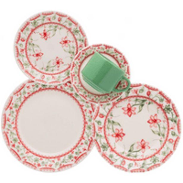 Oferta de Aparelho de Jantar e Chá Biona Vera, 20 Peças, Cerâmica - AE20-5260 por R$139,9