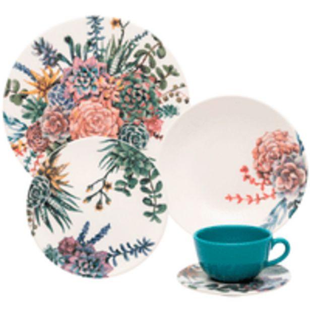Oferta de Aparelho de Jantar e Chá Bothanica Oxford, 20 Peças, Cerâmica - AY20-5606 por R$229