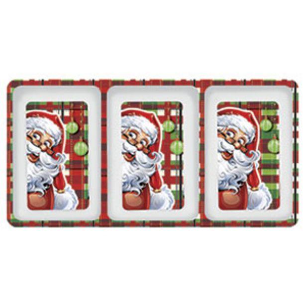 Oferta de Petisqueira de Natal 3 Divisões 31cm - Yangzi por R$14,9