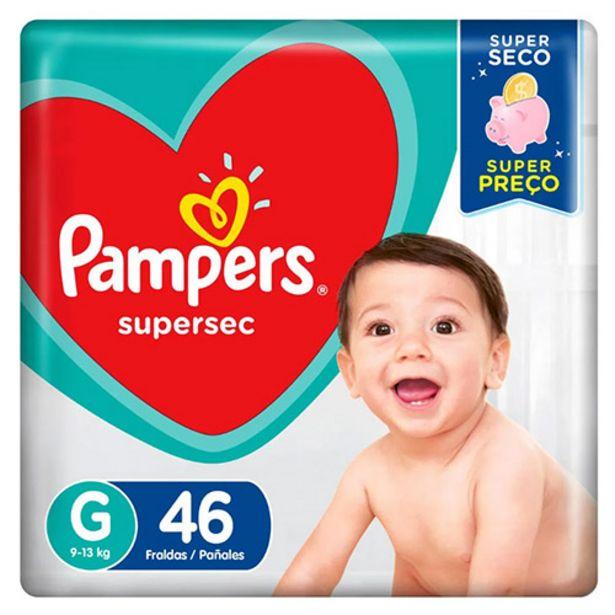 Oferta de Fralda Pampers Supersec - Tamanho G - com 46 Unidades por R$39,99