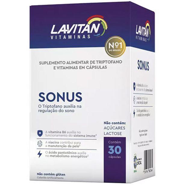 Oferta de Lavitan Sonus - com 30 Cápsulas por R$39,9