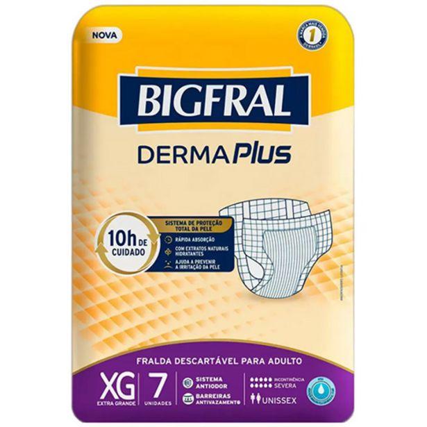 Oferta de Fralda Geriátrica Bigfral Derma Plus Tamanho XG - com 7 Unidades por R$22,99