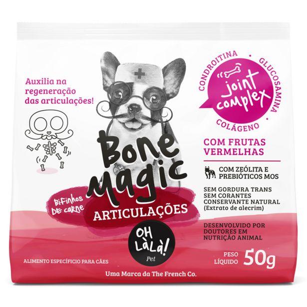Oferta de Bifinho Oh Lá Lá Bone Magic Articulações para Cães - 50g por R$8,95