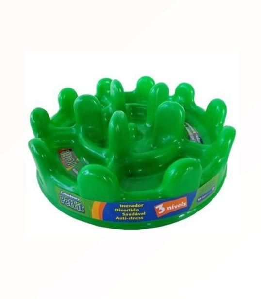 Oferta de Comedouro Lento Verde Pet Fit - Pet Games por R$36,9