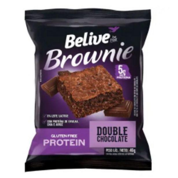 Oferta de Brownie Belive Protein 40g Double Choco por R$5,98