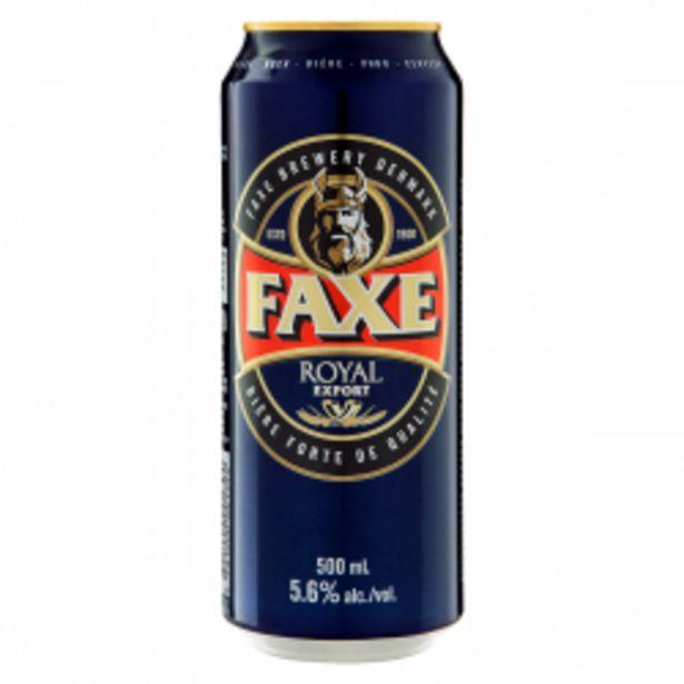 Oferta de Cerveja Faxe 500ml Lager American Royal Export Lt por R$17,22
