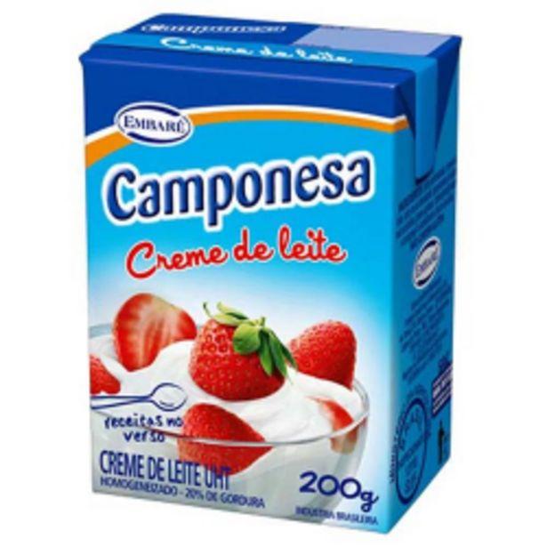 Oferta de Creme De Leite Camponesa 200g Tp por R$3,05
