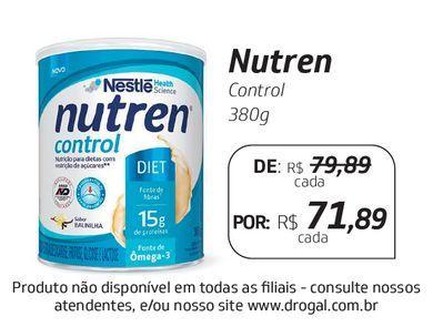 Oferta de Nutren Control 380g por R$71,89
