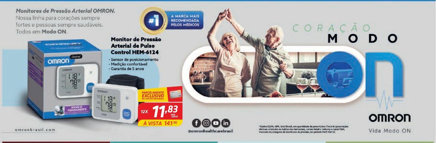 Oferta de Monitor de Pressão Arterial de Pulso Control por R$141,9