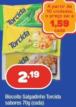 Oferta de Biscoitos Torcida por R$2,19