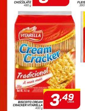 Oferta de BISCOITO CREAM CRACKER VITARELLA por R$3,49