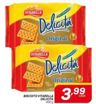 Oferta de BISCOITO VITARELLA DELICITÁ por R$3,99