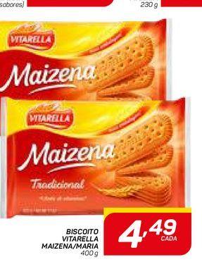 Oferta de BISCOITO VITARELLA MAIZENA/MARIA por R$4,49