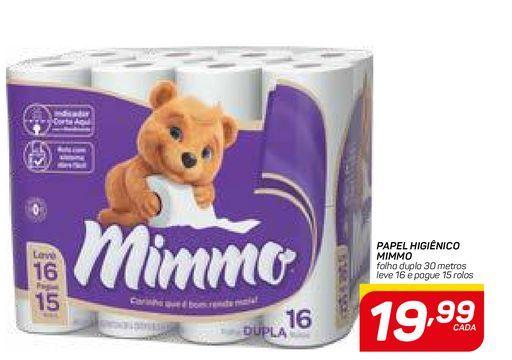 Oferta de PAPEL HIGIÊNICO MIMMO por R$19,99
