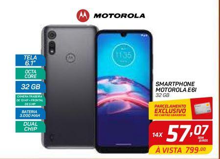 Oferta de SMARTPHONE MOTOROLA E6I por R$799
