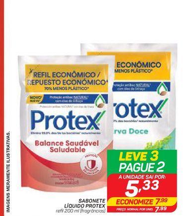 Oferta de SABONETE LÍQUIDO PROTEX por R$7,99