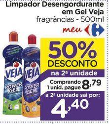 Oferta de Limpador Desengordurante em Gel Veja por R$8,79