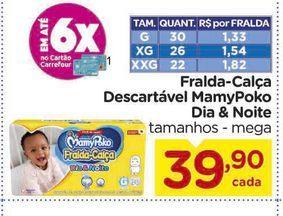 Oferta de Fralda-Calça Descartável MamyPoko Dia & Noite por R$39,9