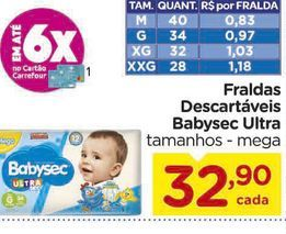 Oferta de Fraldas Babysec por R$32,9