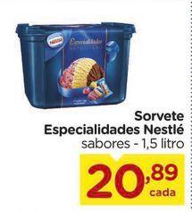 Oferta de Sorvete  Especialidades Nestlé sabores  por R$20,89